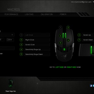 Razer Ouroboros , gaming mouse with 11 programmable Hyperesponse buttons