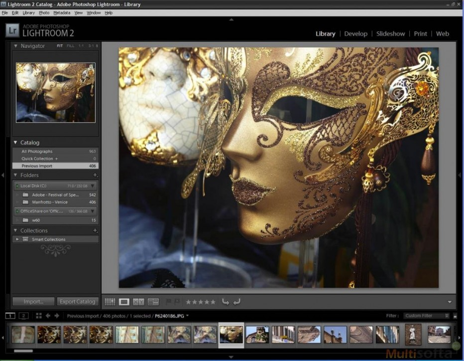 Adob Lightroom 5.7, featuring with DSLR camera Integration