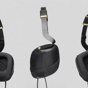 Molami headphone, Pleat black napa leather